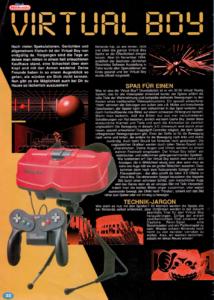 Die Vorstellung der Virtual Boys im Club Nintendo
